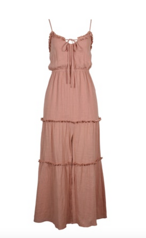Vaucluse Tiered Maxi Dress (Dusty Pink)