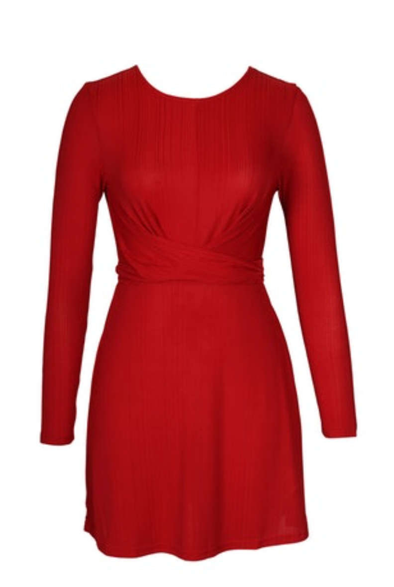 Faith Mini Dress (Red)