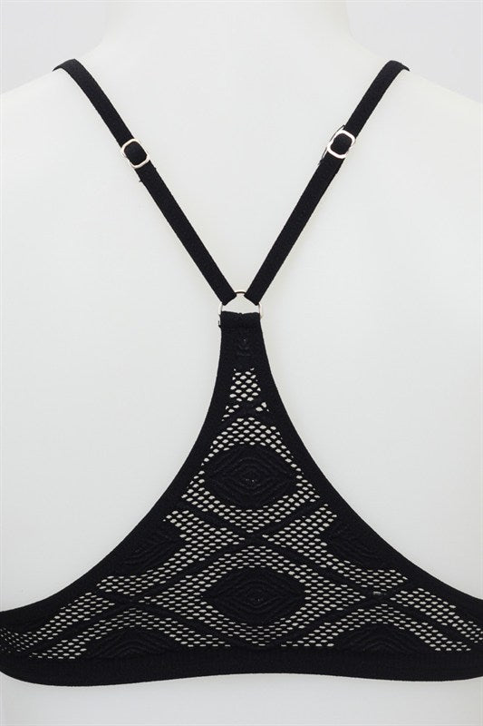 Katie Y Back Bralette (Black)