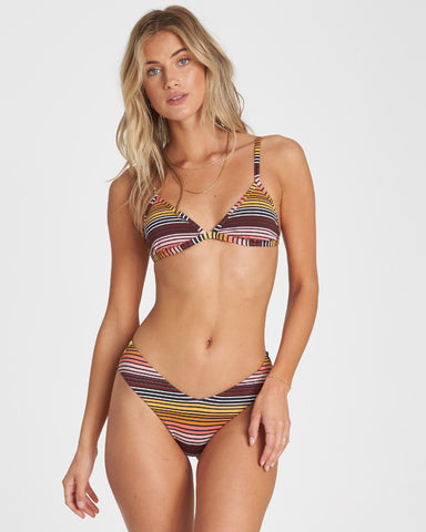 Sun Fall Fixed Triangle Bikini Top (MUL)
