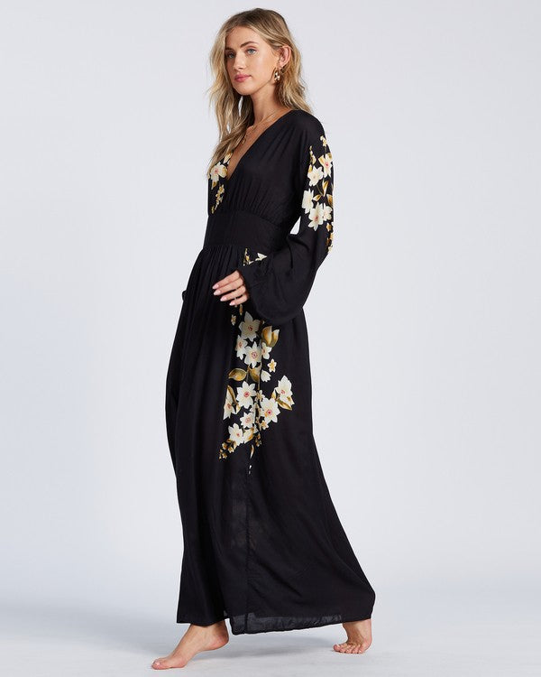 Night Bloom Dress (BLK)
