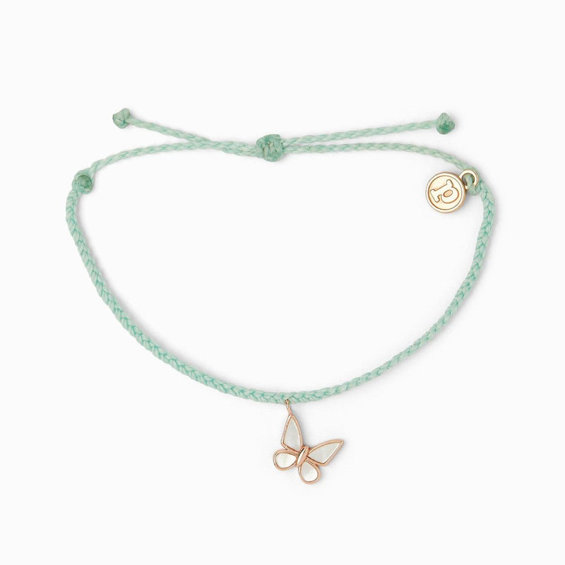 Save the Butterflies Charm (Mint)