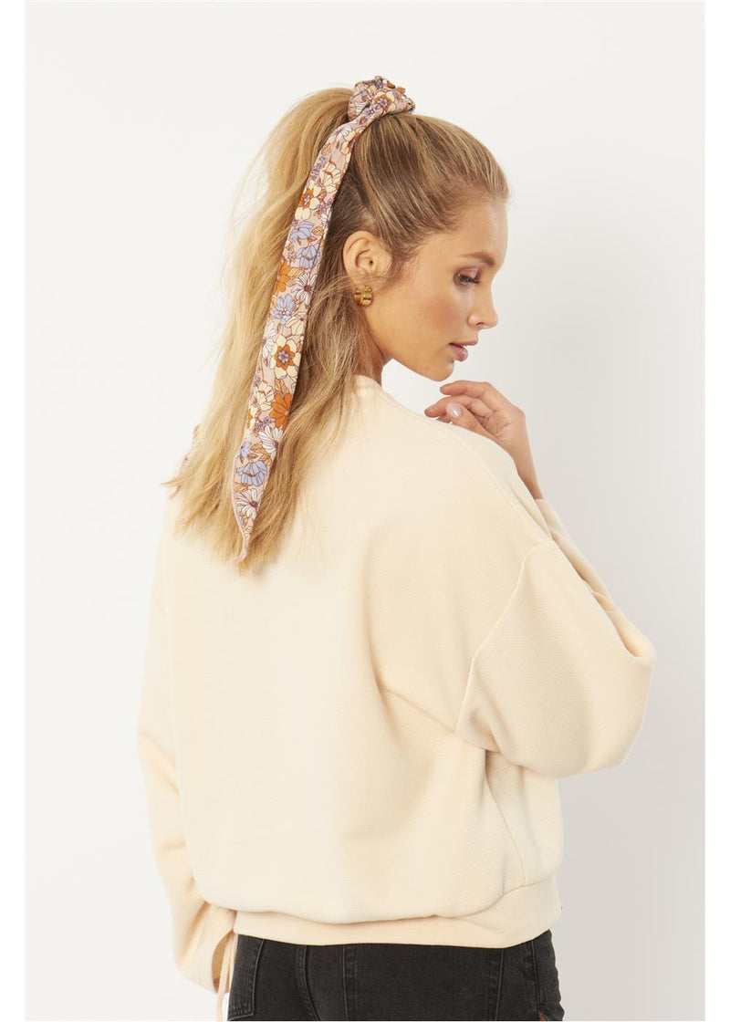 WHY KNOT SCRUNCHIE WOVEN SCARF (MSH)