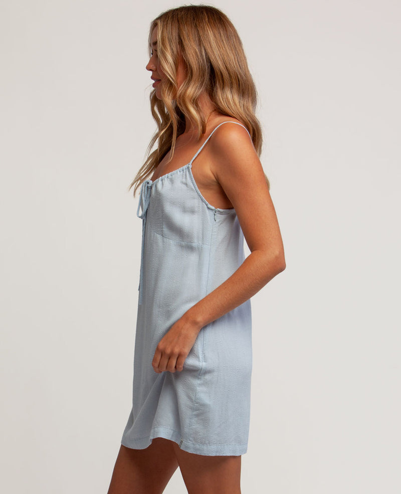 Dream Tie Front Dress (Blue)