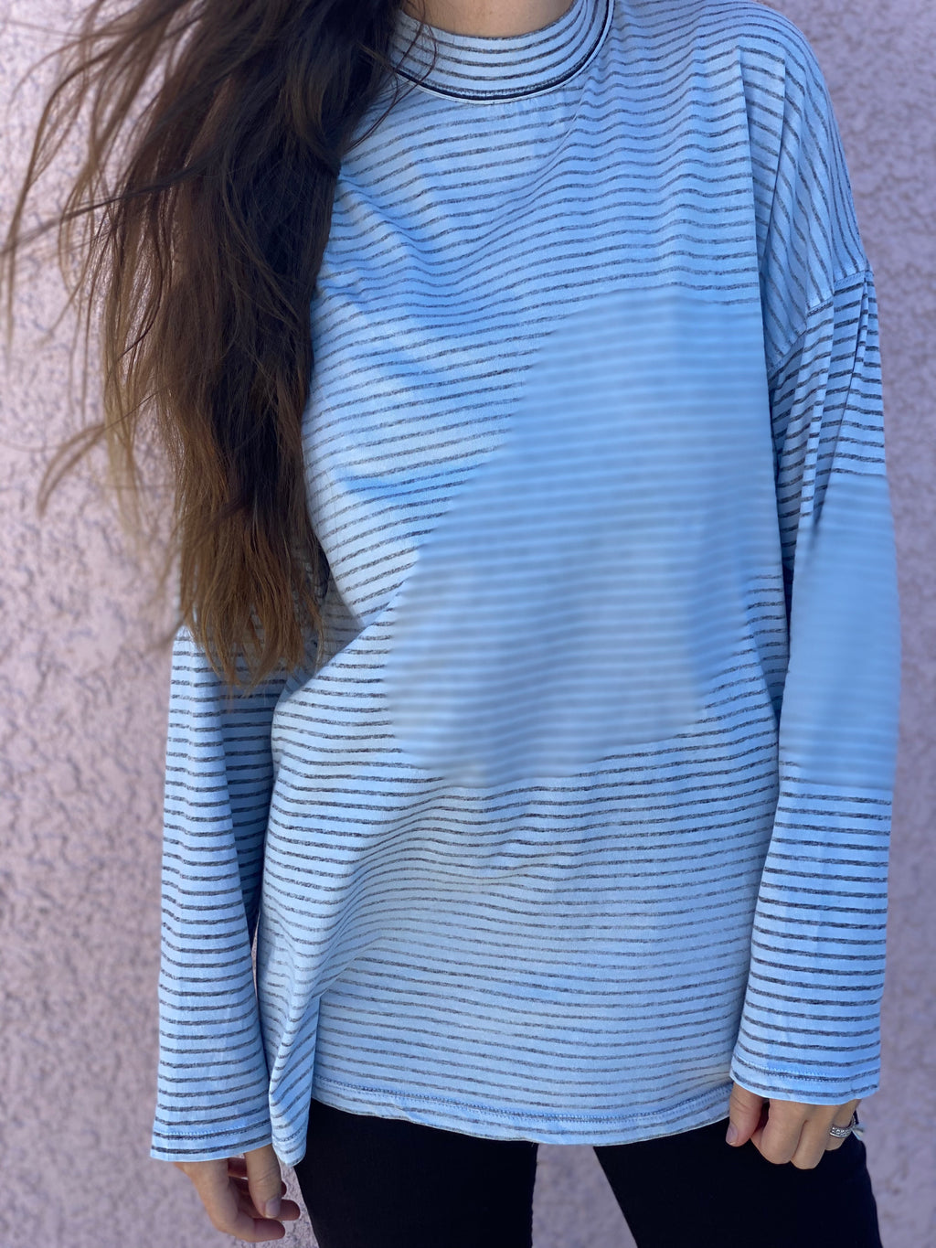 Be Free Striped Tunic (Chambray Combo)