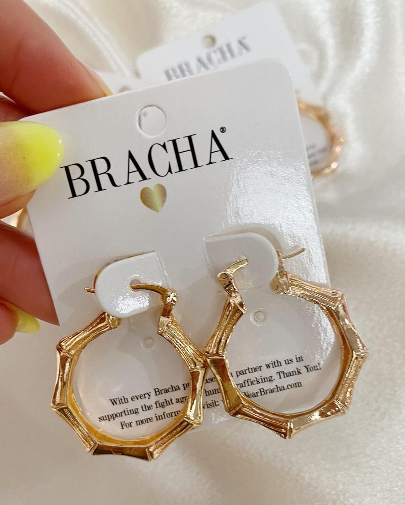 Rose Gold Bali Mid Size Hoops