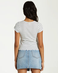 Secret Love Tee (Blue Stripe)