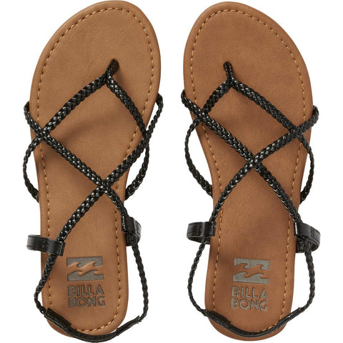 Crossing Over Sandal (Off Black)