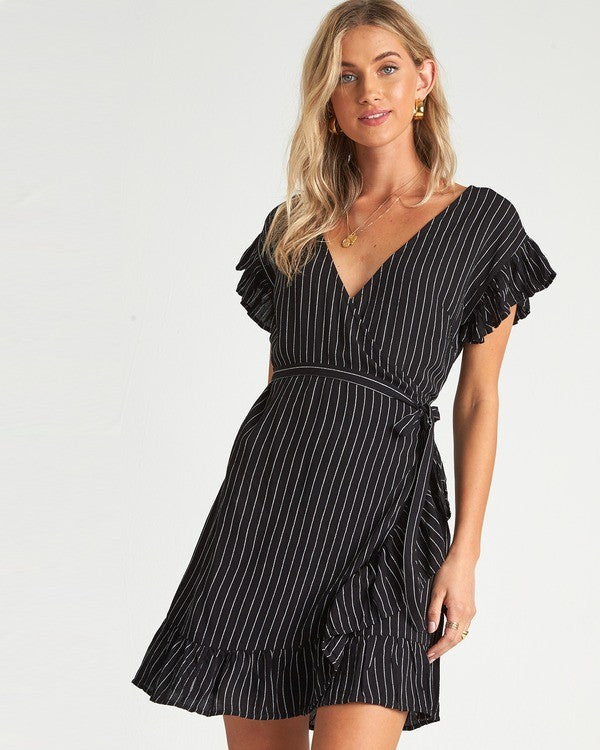 Wrap And Roll Dress (BLK)