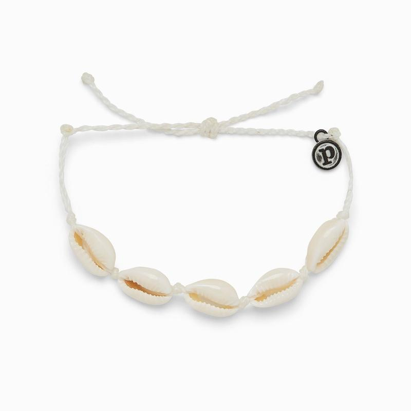 Knotted Cowries Bracelet (White)