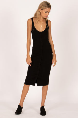 Morning Market Midi Tank Dress (BLK)