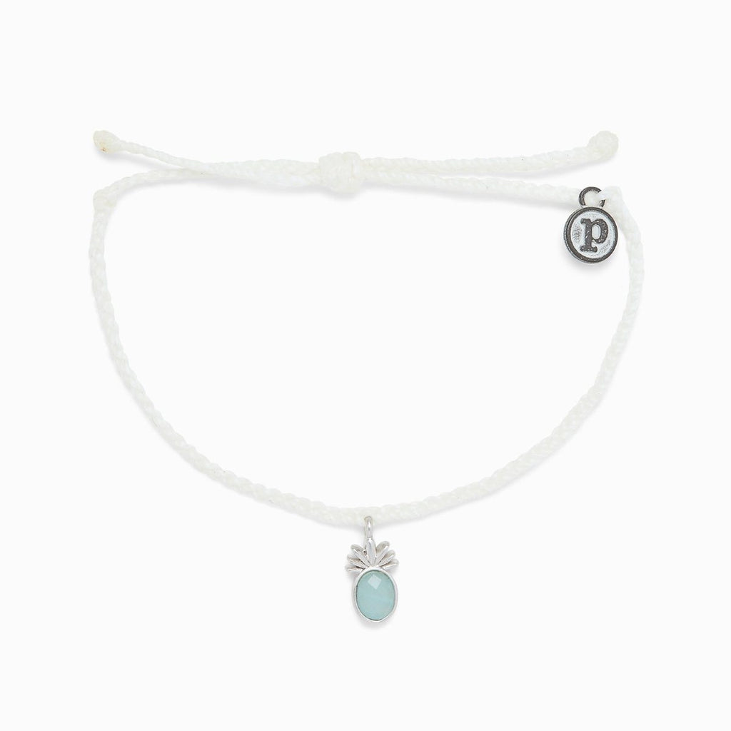 Tropical Breeze Silver Bracelet (WHIT)
