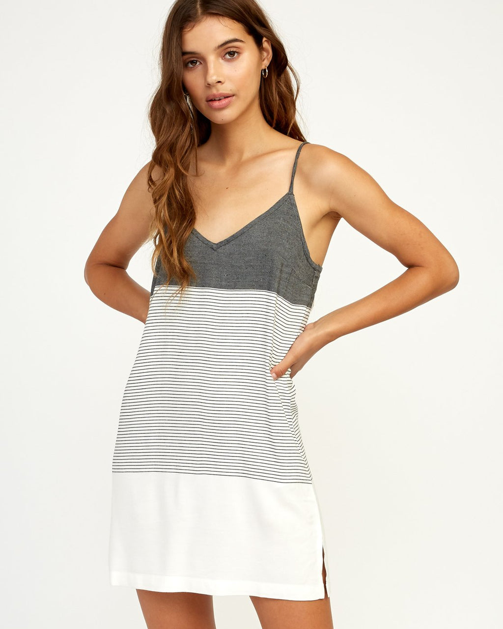 Odyssey Striped Tank Dress (Black) ONLINE EXCLUSIVE