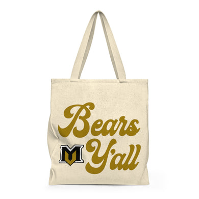 Bears Y'all Shoulder tote