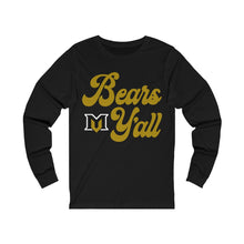 Load image into Gallery viewer, Bears Y'all Ladies Jersey Long Sleeve Tee