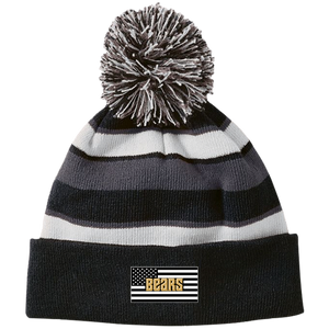 America Bears Striped Beanie with Pom