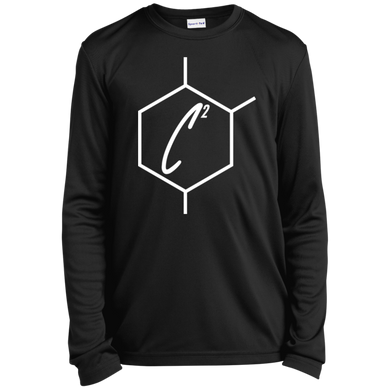 (un)disC2overed HEXA Auto Logo Youth Long Sleeve Moisture-Wicking T-Shirt