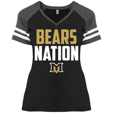 Bears Nation Ladies' Game V-Neck T-Shirt