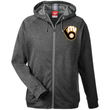 Load image into Gallery viewer, Fal20 MVAA Logo Men's Heathered Performance Hooded Jacket