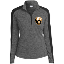 Load image into Gallery viewer, Fall20 MVAA Logo Ladies' Electric Heather Colorblock 1/4-Zip Pullover