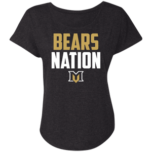 Bears Nation Ladies' Triblend Dolman Sleeve