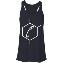 Load image into Gallery viewer, (un)disC2overed HEXA Auth Logo Flowy Racerback Tank