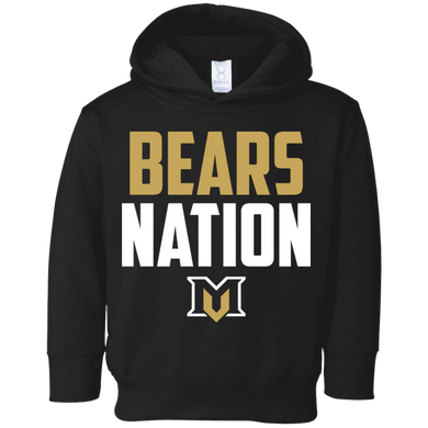 Bears Nation Toddler Fleece Hoodie