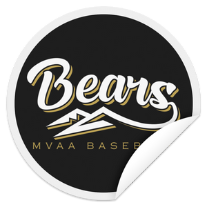 MVAA Bears Baseball  Circle Sticker