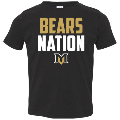 Bears Nation  Toddler Jersey T-Shirt