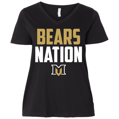Bears Nation Ladies' Curvy V-Neck T-Shirt