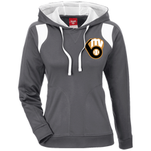 Load image into Gallery viewer, Fal20 MVAA Logo Ladies' Colorblock Poly Hoodie