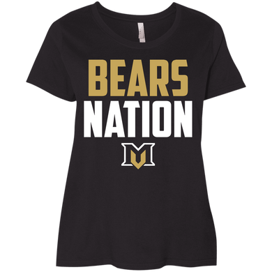 Bears Nation Ladies' Curvy T-Shirt