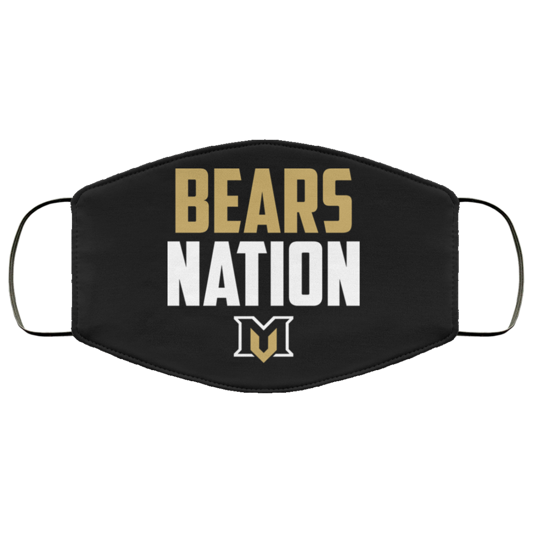 Bear Nation Face Mask