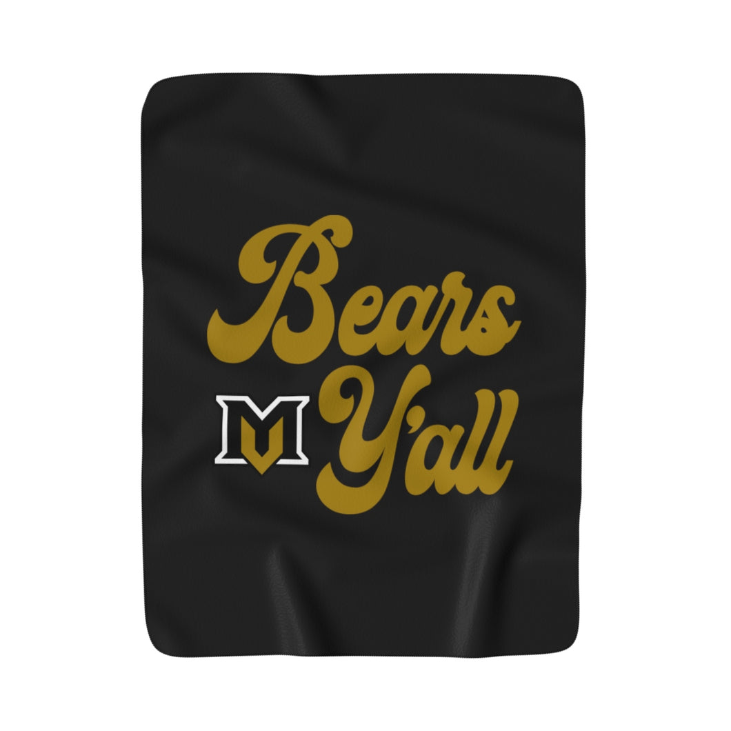 Bears Y'all Sherpa Fleece Blanket