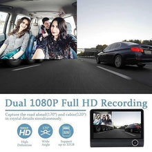 Load image into Gallery viewer, Dual Camera Car Dash Cam With Large Screen
