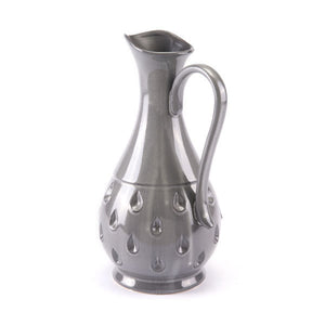 "7.9"" X 6.5"" X 13.2"" Gray Oil Pitcher"