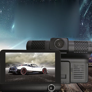 Dual Camera Car Dash Cam With Large Screen