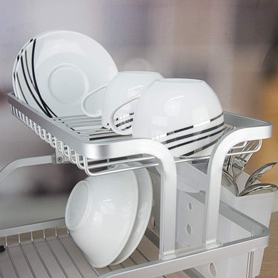 Evelyne GMT-10219 Kitchen Aluminum Frame Dish Drying Rack