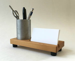 Pencil Cup Business Card Holder