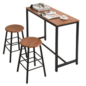 Modern Counter Height Dining Set (One Table and Two Stools)