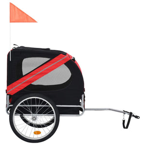Red and Black Dog Bike Trailer