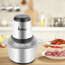 Load image into Gallery viewer, 2-Speed  300W Portable Electric  Stainless Steel One-Button Meat Grinder