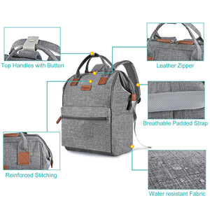 LOKASS Multi-Function USB -Charging Laptop Backpack