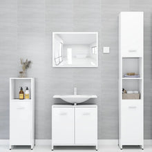 "Load image into Gallery viewer, Chipboard Bathroom Cabinet 23.6x13x22.8""  ( White)"