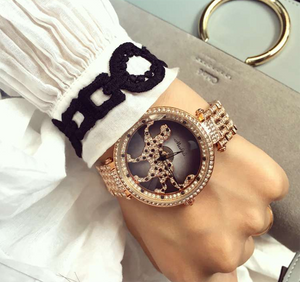 Rotatable Leopard Fortunes Women Fashion Luxury Watch