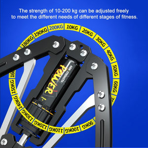 10-200KG Resistance Cylinder Adjustable PowerTwister Arm Exerciser