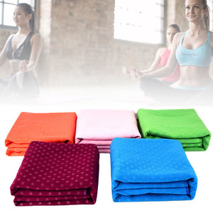 Star Pattern Non-Slip Yoga Pilates Sweat Absorbent Mat Cover Cloth