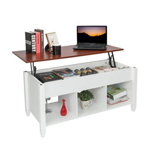 Load image into Gallery viewer, Lift Top Coffee Table w/ Hidden Compartment( White)