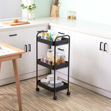 Load image into Gallery viewer, 3-Tier Mobile Utility Kitchen Cart W/  Caster Wheels