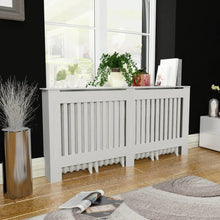 "Load image into Gallery viewer, MDF Radiator Cover White 67.7"" x 7.5"" x 31.9"""